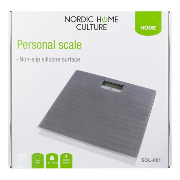 Nordic Home Person våg / Badrumsvåg 150kg Transparent