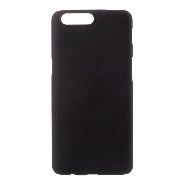 OnePlus 5 Skal Plastskal Rubberized - Svart Svart