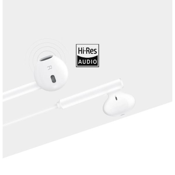 Original Huawei CM33 in-ear Earphone Headphone med mic USB-C Vit