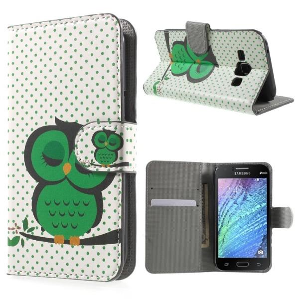 Samsung Galaxy J1 Plånboksfodral Sleeping Owl Svart