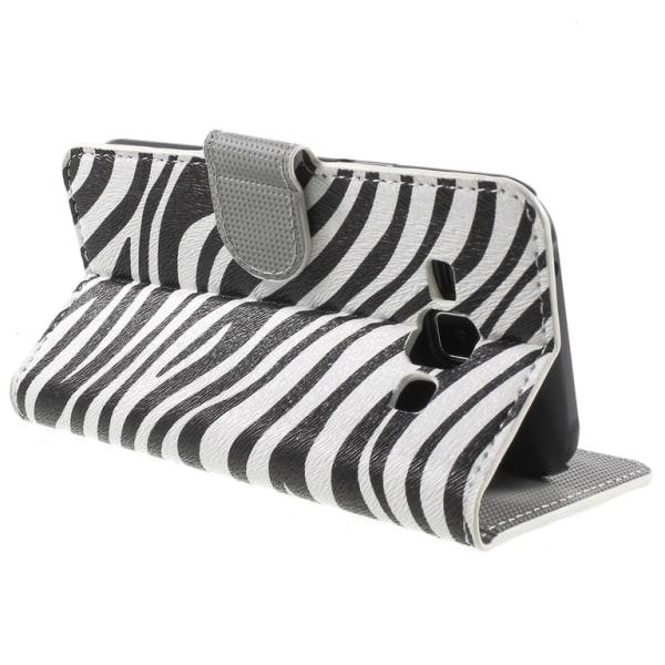 Samsung Galaxy J1 Plånboksfodral Zebra Stripes Svart