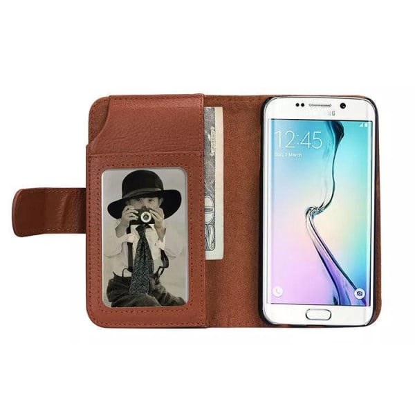 Samsung Galaxy S8 Plus Plånboksfodral med 6 kortplatser Brun Brun
