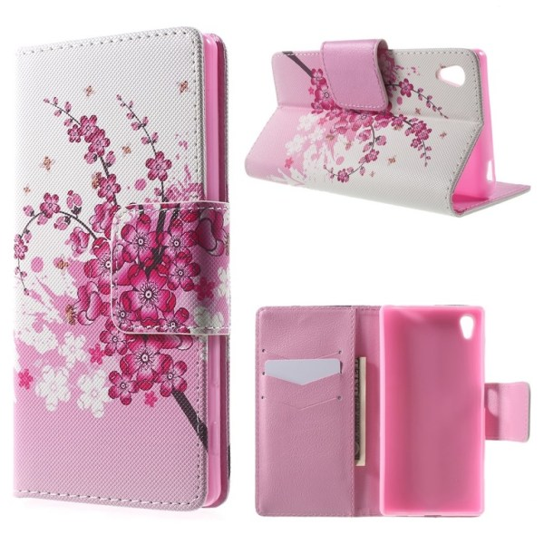 Sony Xperia Z5 Plum Blossom Plånboksfodral Svart