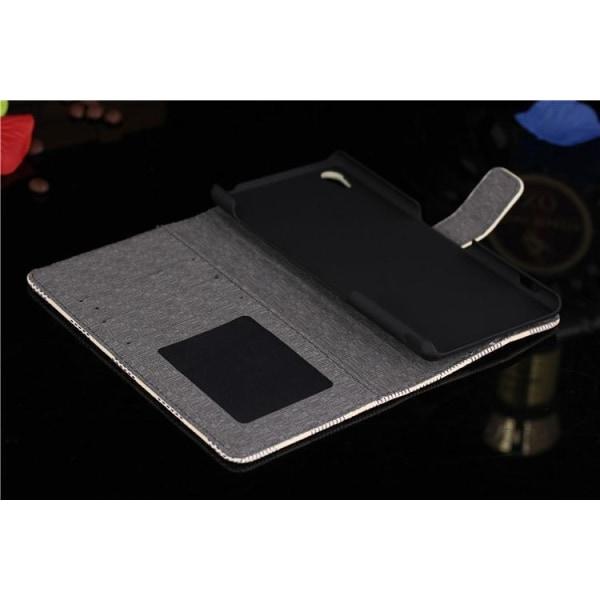 Sony Z5 Plånboksfodral / Fodral Rutigt Svart / Vit Svart