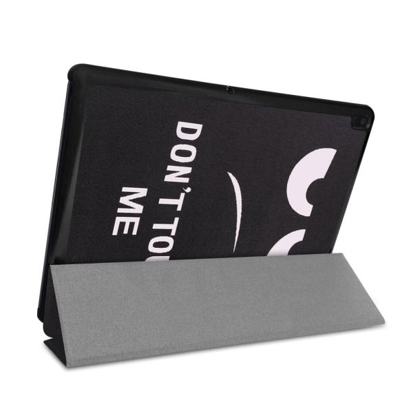Tri-fold Fodral till Lenovo Tab E10 - Do not Touch Me Black