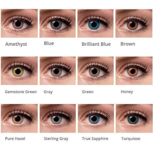 färgade linser utan styrka blå
