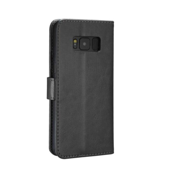 Plånboksfodral Samsung Galaxy S8 |SLITSTARK & Tålig -ALLA FÄRGER svart