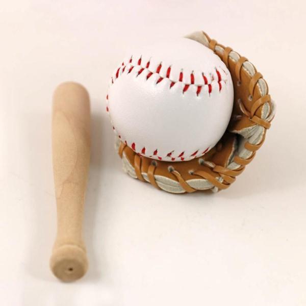 1/12 dockhus miniatyrmöbler baseball bat mini mitt set do Red