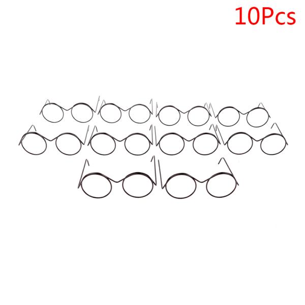 1/2/5 / 10st mode rund ram linsfria retro coola dockglasögon