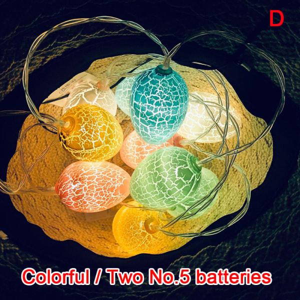 1.5M 10 LEDs Easter Egg Light String Garland Decoration Party L D