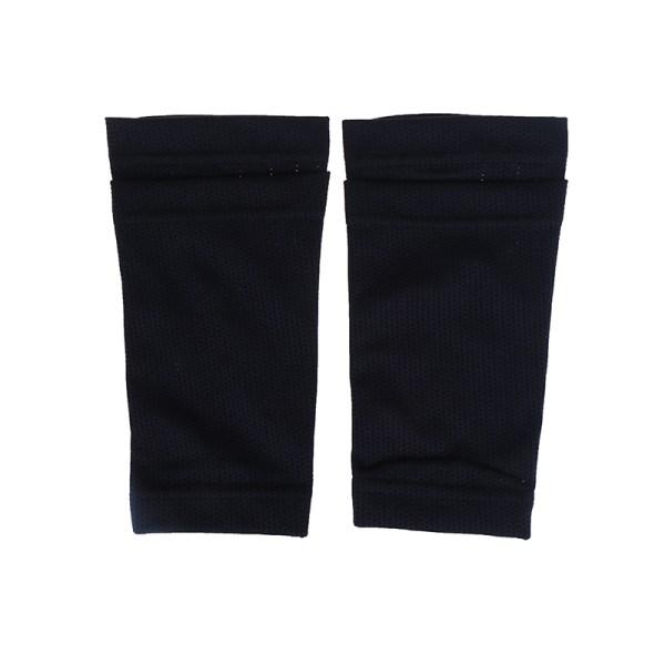 1 Pair Soccer Protective Socks Shin Guard With Pocket For Footb Black S