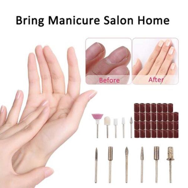 1 Set Electric Nail Drill Pen Manicure Machine Portable Nail Fi Gold