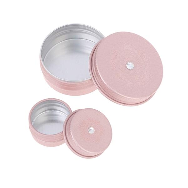 1 st tom rosa guldkräm burk kruka nagel smink läppglans kosmetisk 5g