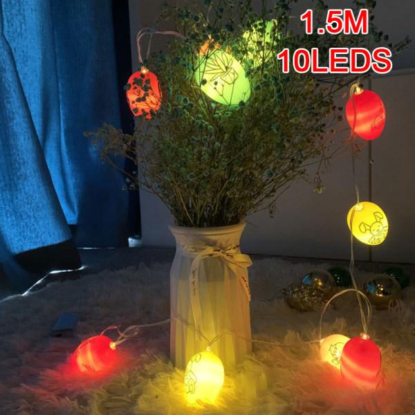 10 LED Easter Egg Shape Decorative Hanging Light Ornaments Home A