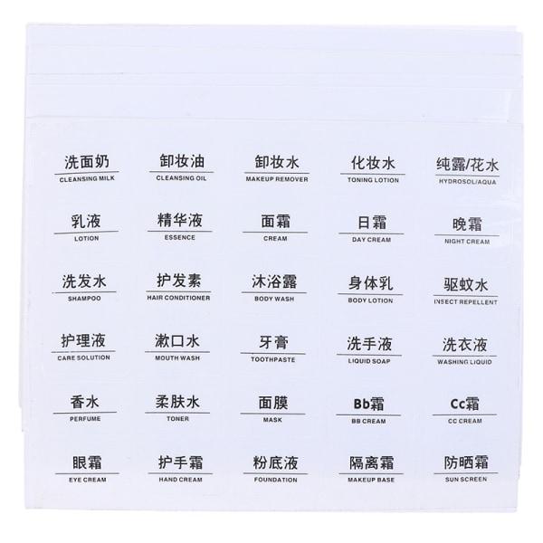 10 ark klara vattentäta papperslimetiketter för co