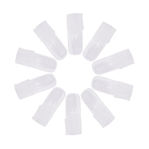 10 x nagellack polska hartsklämskydd för spetsskydd täcker omslag