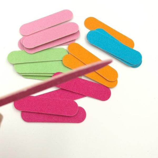 100 st / partier Dubbelsidiga nagelfiler Mini buffertar Verktyg DIY Sand