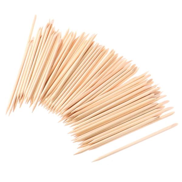 100 Pcs Nail Art Design Wood Stick Sticks Cuticle Pusher Remove