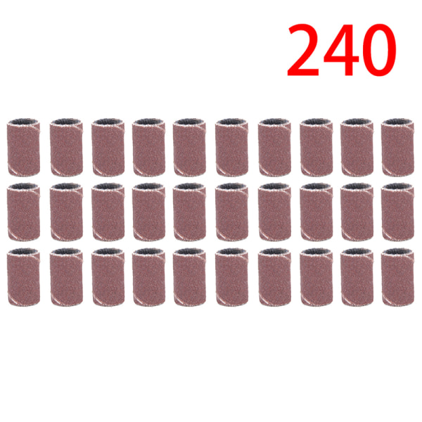 100pcs Sanding Bands Nail Drill Accessories Electric Drill Bits 240