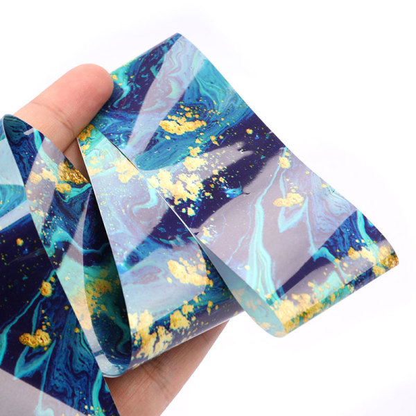 100x4cm Holografisk Nail Art Transfer Folie Sticker Transfer Man