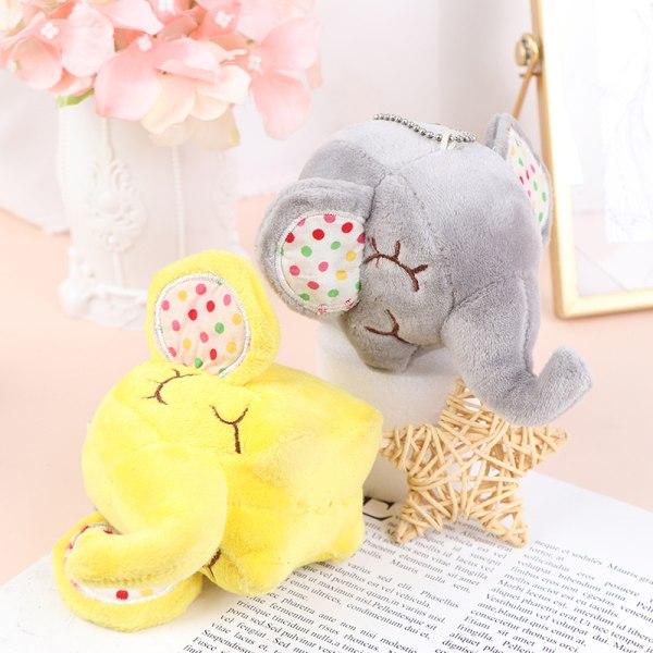 10CM Elephant Stuffed Animal Plush Toys soft Kid''s KeyChain Do Green