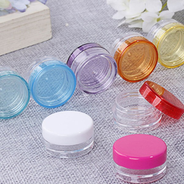 10Pcs 5ml Cosmetic Empty Jar Pot Eyeshadow Makeup Face Cream Co Rose