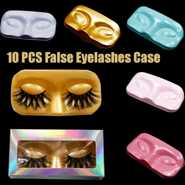 10st Ansiktsform Förpackningslåda Ögonfransfack Falska ögonfransar La