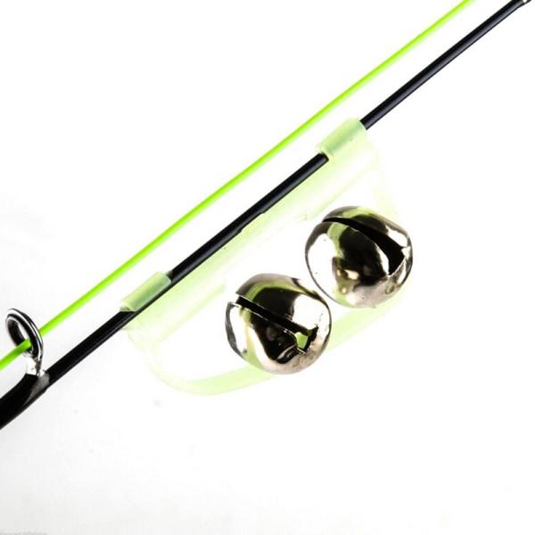 10st Glow Fishing Twin Bell Rod Clip Bait Fishing Alarm
