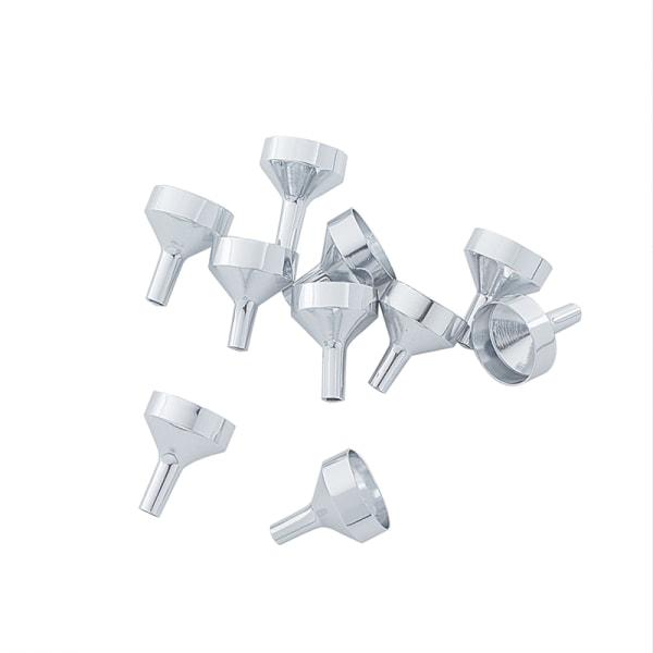 10st mini metalltrattar för påfyllning av flaskor påfyllning av flytande perfu