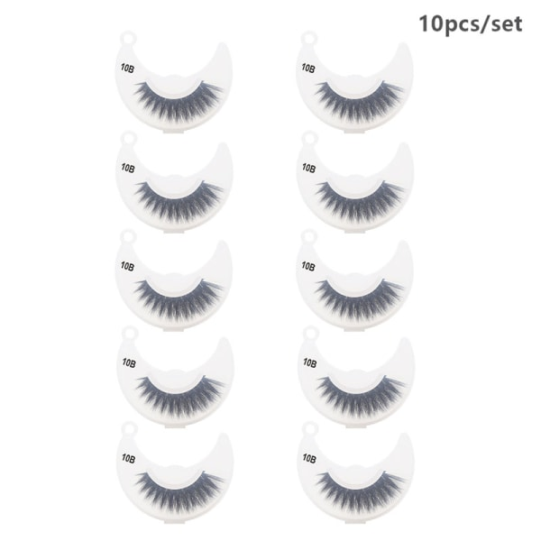 10st / Set 3D Mink Lashes Fluffy Mink Eyelashes Makeup Natural E