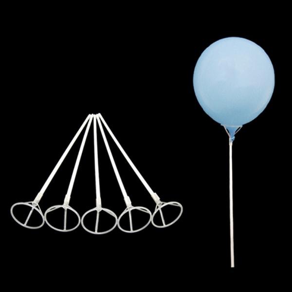 10st bröllopsfödelsedagsfest folie ballonghållare pinnar vit r