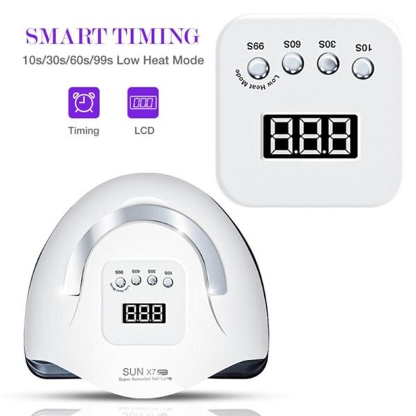 114W SUN X7 LED UV-lampa för manikyr nagellampor 57 LEDs Nagel Dr