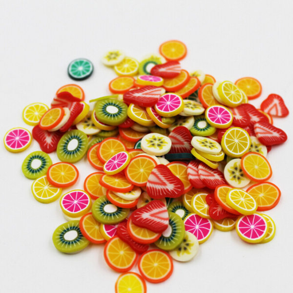 120 st 3D Mix Fimo Nail Art Nail Tips Polymer Clay Slices Deco