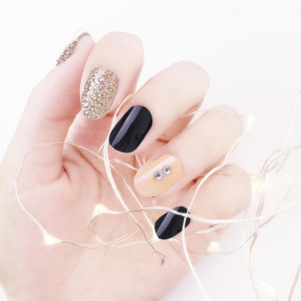 120 st Korta falska naglar Fake Nails Kort tryck på Nail Square