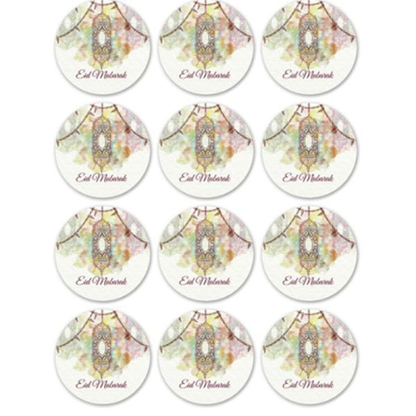 120pcs Ramadan EID Mubarak Decorations Paper Sticker Gift Lable G 10 sheet