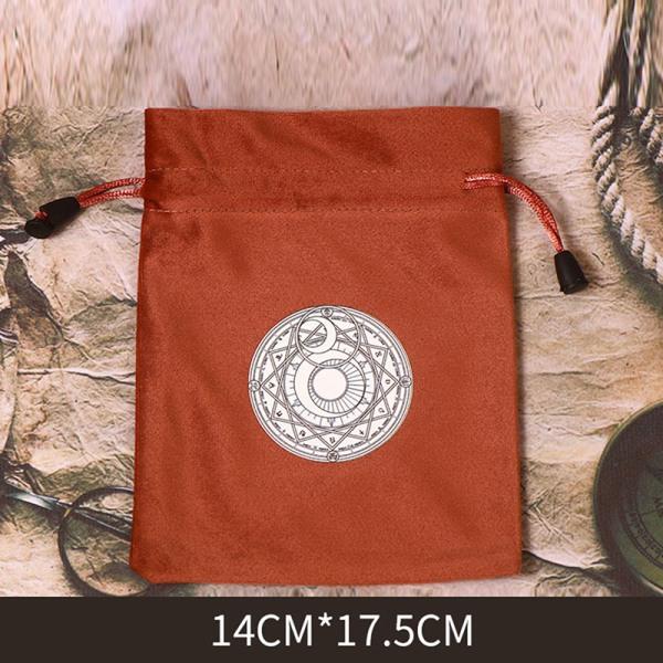 14x18cm sammet tarot förvaringspåse brädspel paket tarotkort