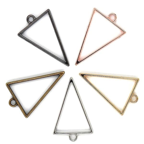 15st geometrisk figur charm ihålig blank hängande bricka armband