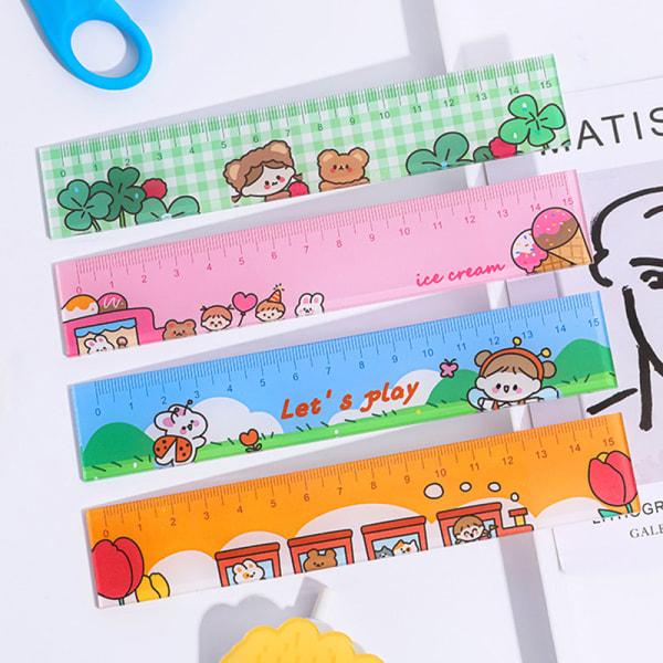 160 * 30mm akryl linjal Ins stil söt tecknad brevpapper Drawin