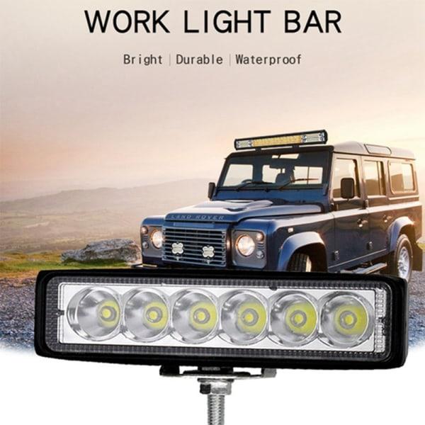 18W Car Truck 6 Led Work Light Bar Drl Driving Fog Flood Beam 6
