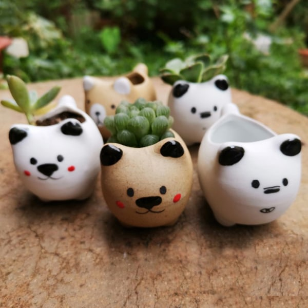1pc Animal Flower Pot Ceramic Vase Planter Desktop Ornaments Ho A2