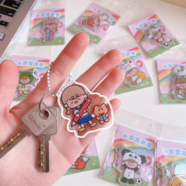 1 st Cartoon Anime Girl Nyckelring Kawaii Akryl Ins Trinket Acce