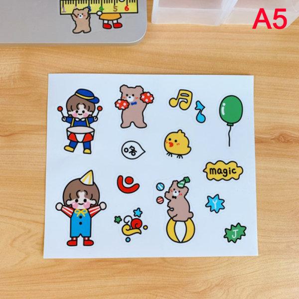 1pc Cartoon Cat Bear Rabbit Duck Stickers Student Decoration Wa A5