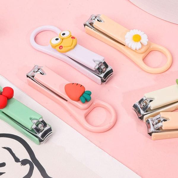 1 st tecknad söt nagelklippare skärare färgglada barn nagelsax