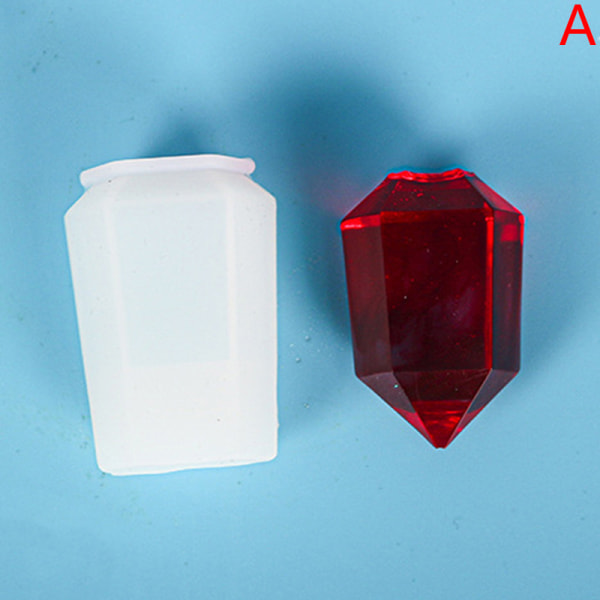 1 st kristall pendel epoxiharts mögel halsband hänge silikon
