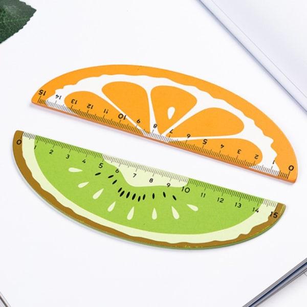 1pc Cute Wooden Straight Ruler Creative Fruit School Office Sup Kiwi