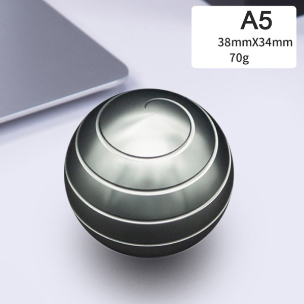 1pc Desktop Decompression Rotating Spherical Gyroscope Office D Gray