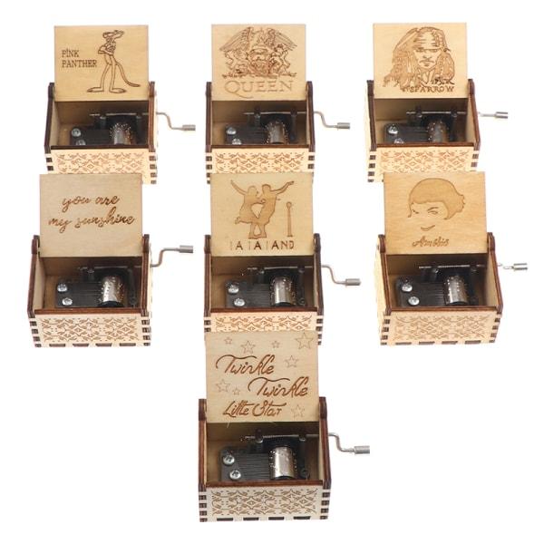 1st DIY musiklåda trähand vev musik låda födelsedag jul