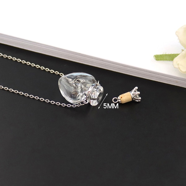 1 st glas minnesurnu kremering hänge halsband ask fall hålla