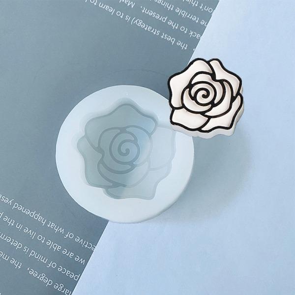 1 st handgjord linje ritning blomma epoxiharts formar brudblomma
