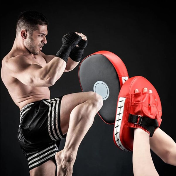 1Pc Kick Boxing Mitt Focus Handskar Pad Training Punch Target PU L.